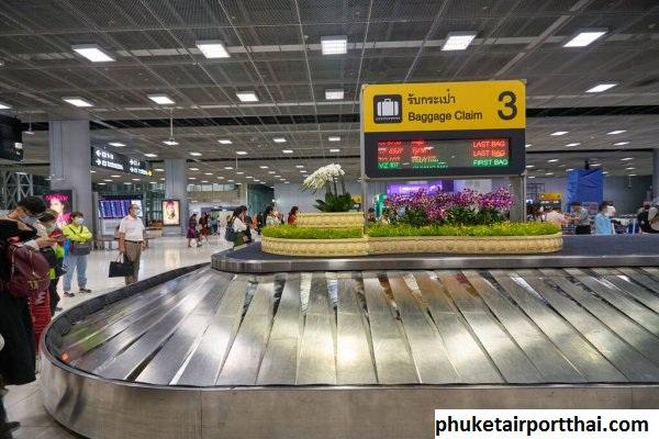Carousel Bagasi Yang Ada di Bandara Internasional Phuket Thailand