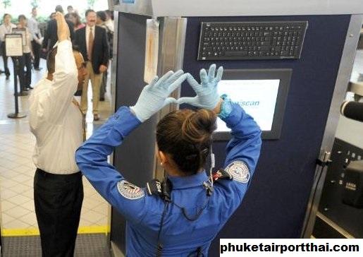 Pemindai Gelombang Milimeter Yang Ada di Bandara Internasional Phuket Thailand